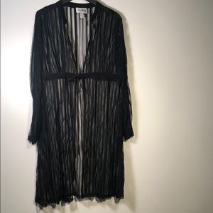 Joseph Ribkoff black Cover up/Robe 14